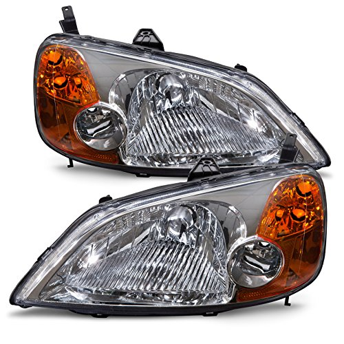 Honda Civic Sedan/Hybrid Model Headlights Headlamps Driver/Passenger Pair New (Civic Headlamp Headlight Honda Sedan)