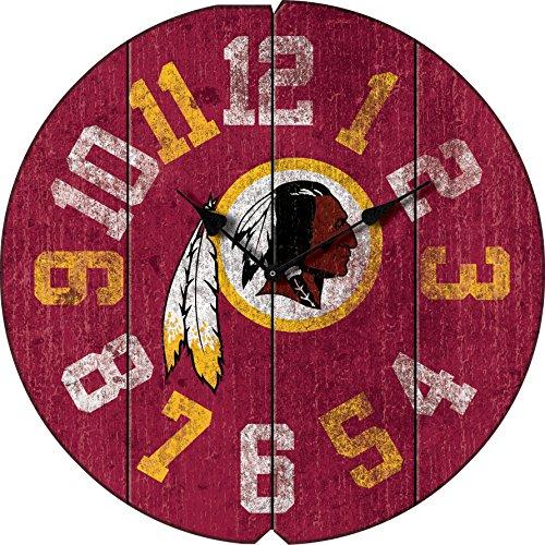 Washington Nationals Round Clock - Imperial Officially Licensed NFL Merchandise: Vintage Round Clock, Washington Redskins