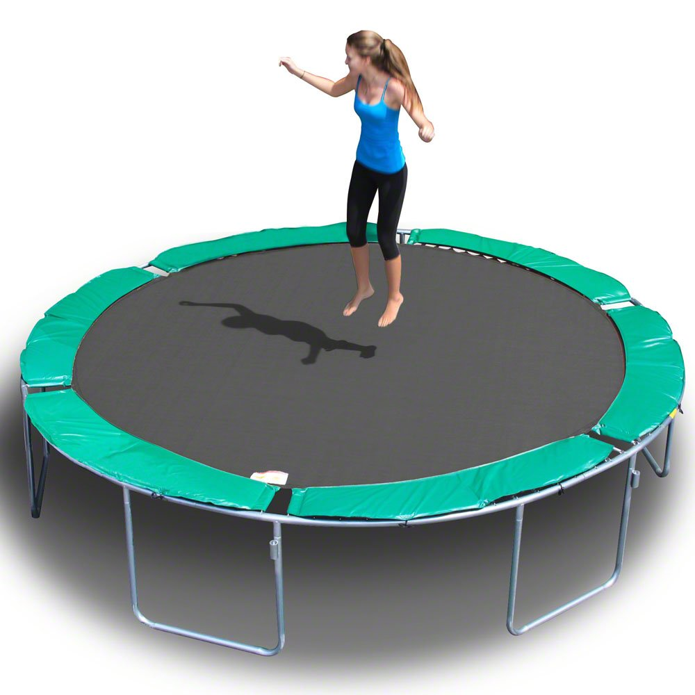 MAGIC CIRCLE 13.6 FT ROUND TRAMPOLINE (No Safety Cage)