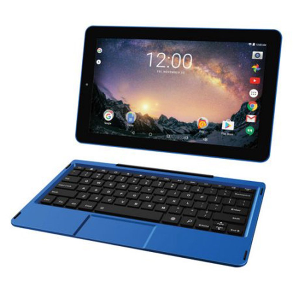 2018 Newest Premium High Performance RCA Galileo 11.5' 2-in-1 Touchscreen Tablet PC Intel Quad-Core Processor 1GB RAM 32GB Hard Drive Webcam Wifi Bluetooth Android 6.0-Blue