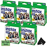 FujiFilm Instax Wide Instant Film 5 Pack (5 x 20) Total of 100 Photo Sheets - Compatible with FujiFilm Instax Wide 300, 210 and 200 Instant Cameras