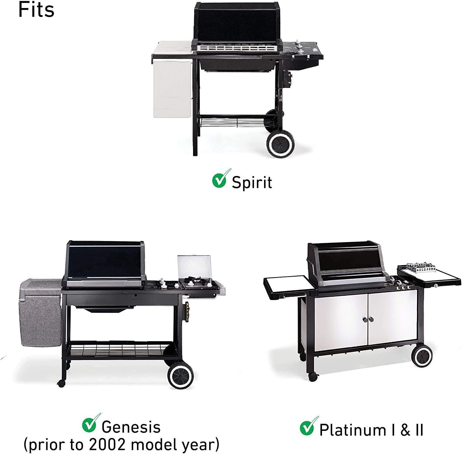 1000-5500 Spirit E210 Install Easily Durable Ignitor Replacement for Weber 7509 GASPRO 7509 Exact Igniter Kit for Weber Genesis E-310//320 Silver B//C 500 700 Grill with Side-Control