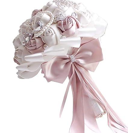 Amazon Com Huahua Store Gorgeous Beaded Crystal Wedding Bouquet