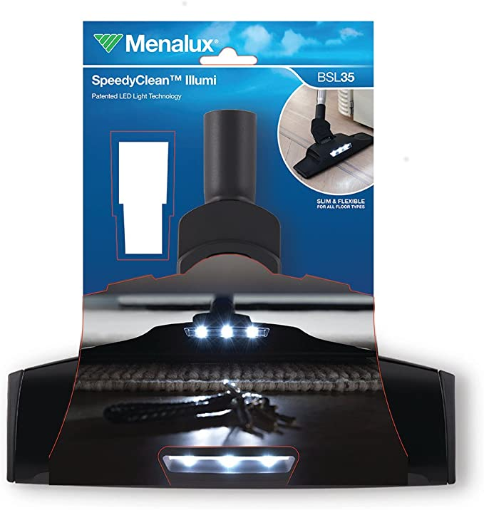 Menalux BSL35 - Cepillo SpeedyClean™ universal para todas las aspiradoras con adaptador 32/35 mm: Amazon.es: Hogar