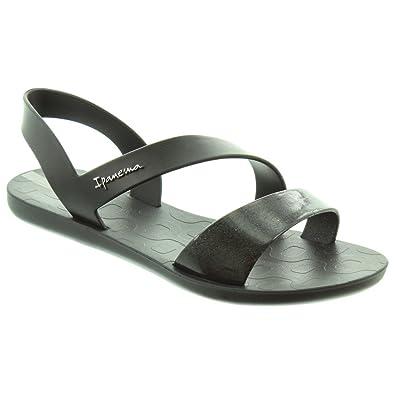 0c211b756 Ipanema Ladies Vibe Sandals In Black  Amazon.co.uk  Shoes   Bags