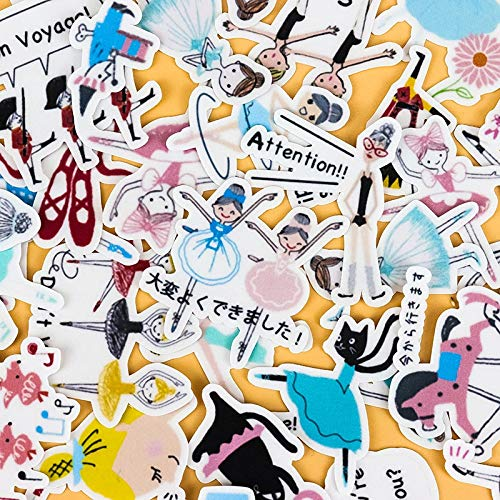 40pcs Creative Cute Self-Made Actress Dancing Girls DIY Stickers Diary Album Decoration Scrapbooking Child Stationery Stickers