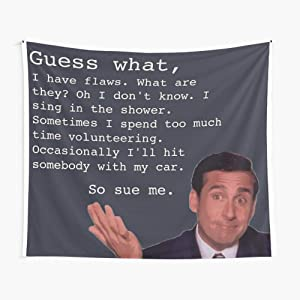 CuYatry Michael Scott Quotes Boutique Tapestry Wall Hanging Tapestry Vintage Tapestry Wall Tapestry Micro Fiber Peach Home Decor 59.1X51.2 in