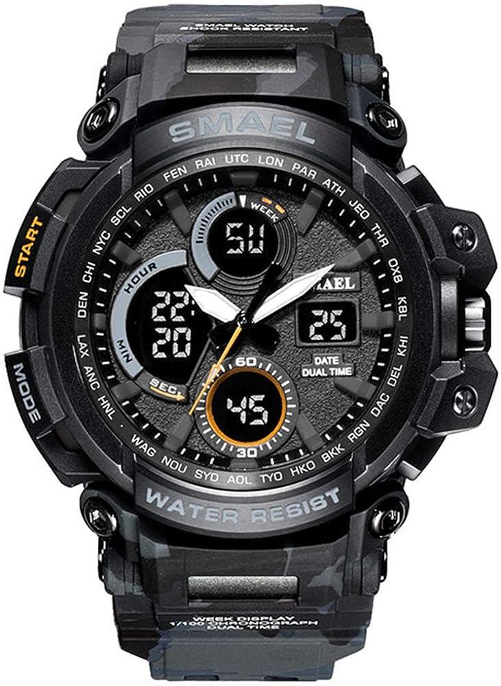 Montres de sport 2020 Hommes Montre Étanche LED Numérique Montre Mâle Horloge Masculino Reloj Hombre Hommes Montres Nero