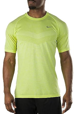4cc76181d Nike Dri-Fit Knit Short Sleeve Running T-Shirt - SP15: Amazon.co.uk:  Clothing