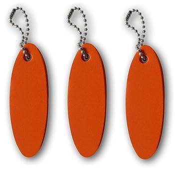 3 paquete naranja llavero flotante flotadores **Hecho en los ...