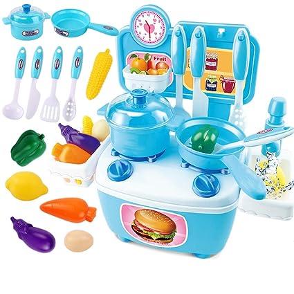 Xyanzi Juguetes para Bebés Juego de Juguetes de Cocina de Cutting Play, Incluye Verduras de