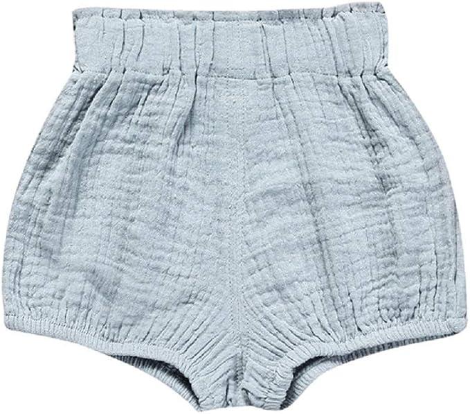 Beb/é Pantalones Cortos Ni/ñas Ni/ños Bombacho Estampado Braguitas Pa/ñal Cubierta Verano Cintura El/ástica Pull-on Bloomer Shorts Loose Harem Shorts Pantalones De Playa