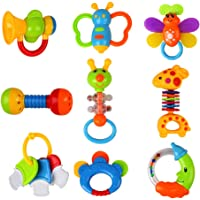 9-Piece Baby Toys Rattles Teether and Shakers