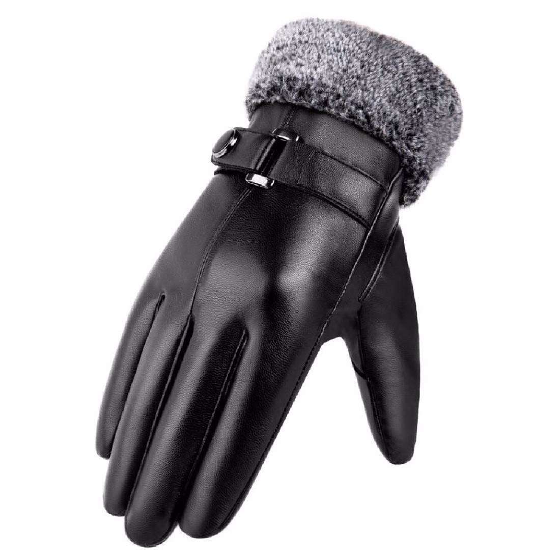 ZPSPZ mens gloves Gloves Weaving and Thickening Warm and Cold-Proof Cotton Gloves for Men Riding in Wind-Proof Touch Screen in Winter