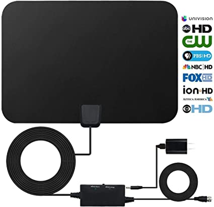 2018 UPGRADED De Amplified HD Digtial TV Antenna with 50-70 Miles Long Range