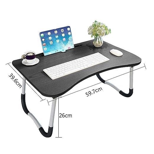 MSF Mesa plegable Escritorio de dormitorio de mesa de cuaderno ...