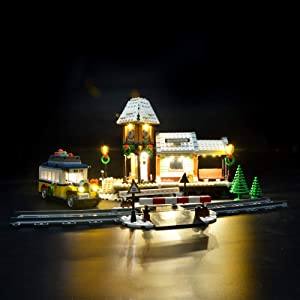 Briksmax Led Lighting Kit for Winter Village Station - Compatible with Lego 10259 Building Blocks Model- Not Include The Lego Set