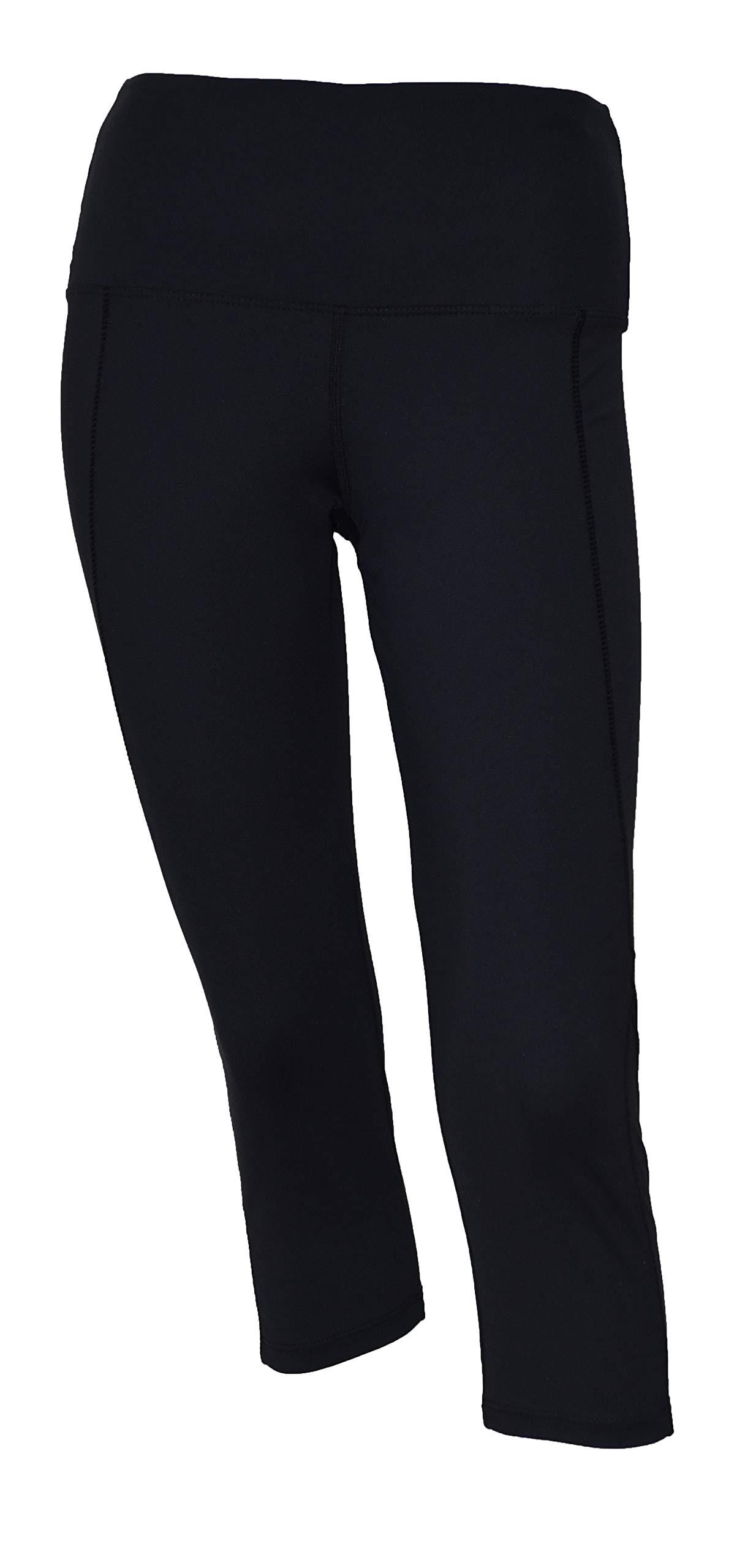 Private Island Women UV Swim Rash Guard Capri Pocket Pants Yoga (M, Black) by Private Island