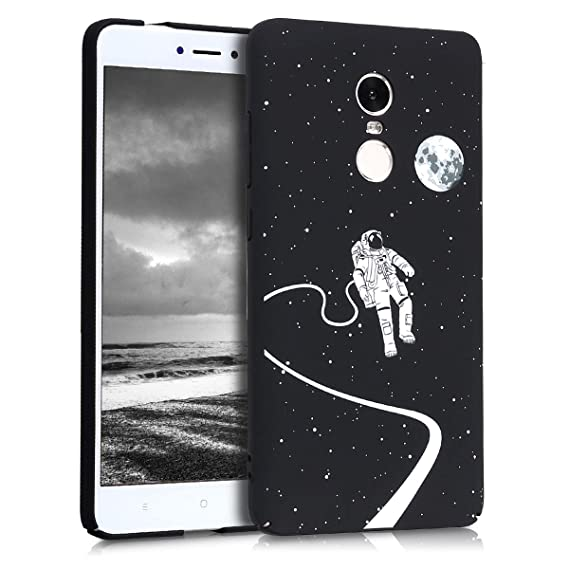 the latest 9172b 80de0 kwmobile Case for Xiaomi Redmi Note 4 / Note 4X - Hard Plastic Anti-Scratch  Shockproof Protective Smartphone Cover - White/Black