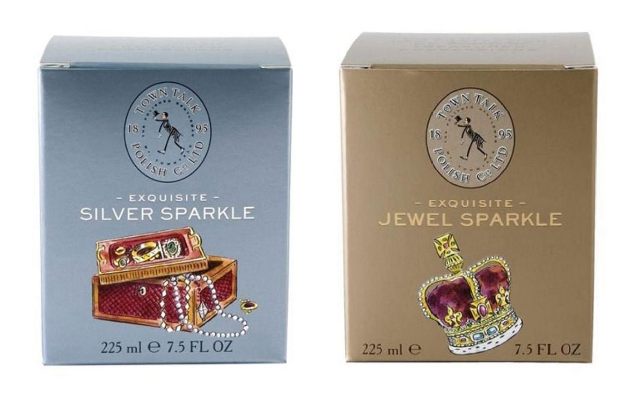 Town Talk Silver & Gold Jewellery Cleaner Bath Both 225ml