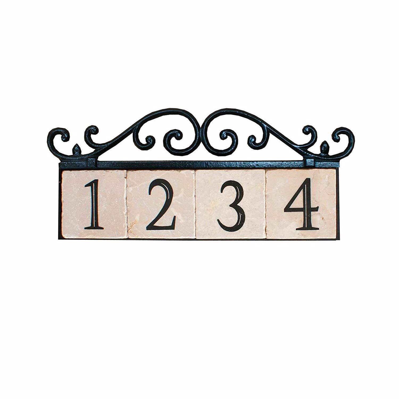 3 Numbers Iron Old World 13 x 8 x 1 NACH KA House Address Sign//Plaque