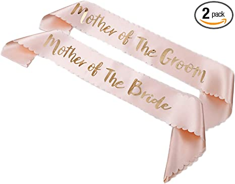 Rose Gold /'Mother Of The Groom/' Mother Of The Bride Hen Party Sash Bachelorette