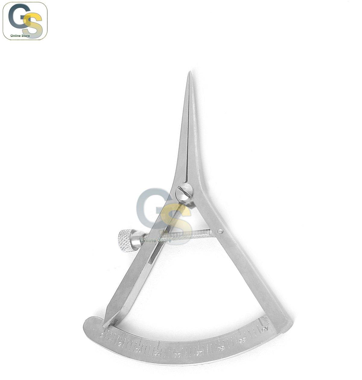 G.S STAINLESS STEEL CASTROVIEJO CALIPER DENTAL GRADUATED 0-40MM