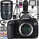 Canon EOS 5DS R DSLR Camera with Canon EF 24-105mm f/4L IS II USM Lens 16PC Accessory Kit - Includes 64GB SD Memory Card + Full Size 72 Tripod + MORE - International Version (No Warranty)
