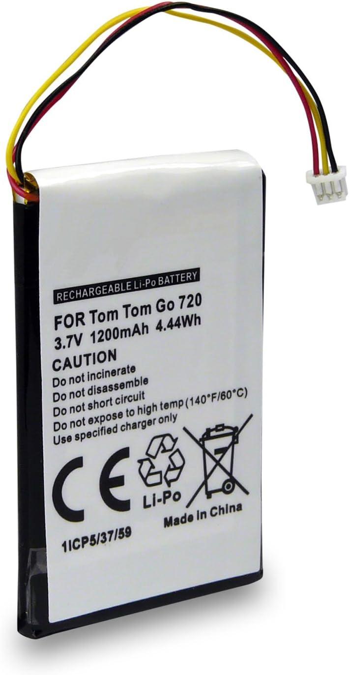 Batería CS-TM730SL Compatible con Tomtom GO 530 Live | 630 | 720 | 730 | 730T | 930 | 930T