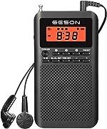AM FM Radio Portable Pocket Digital Tuning Battery Operated Transistor Radios