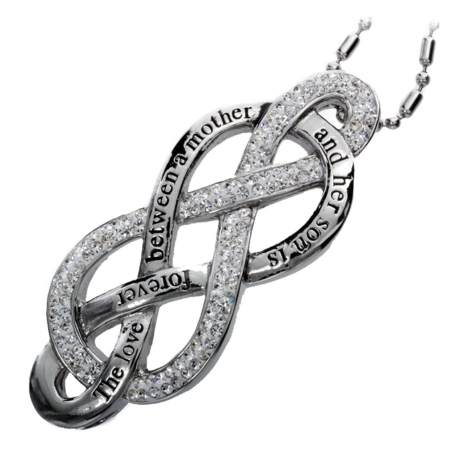 Amazon rh jewelry mother and son love infinity symbol amazon rh jewelry mother and son love infinity symbol stainless steel pendant necklace jewelry biocorpaavc Image collections