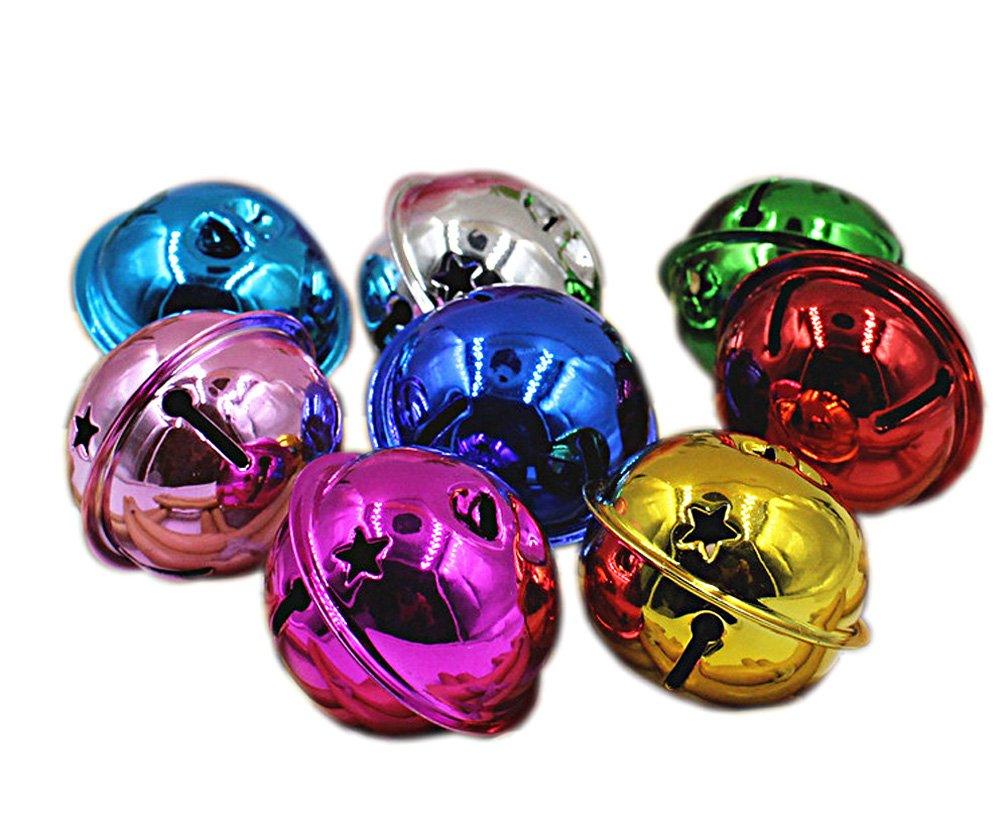 Aimira Jingle Bells 30Pcs sonagli grande per decorazione natalizia per creazione gioielli, Mixed, 24 mm