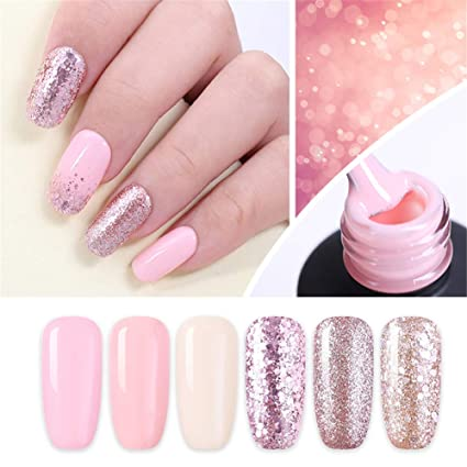 Nicole Diary 6 Ml Gel Per Unghie Color Oro Rosa Brillantato