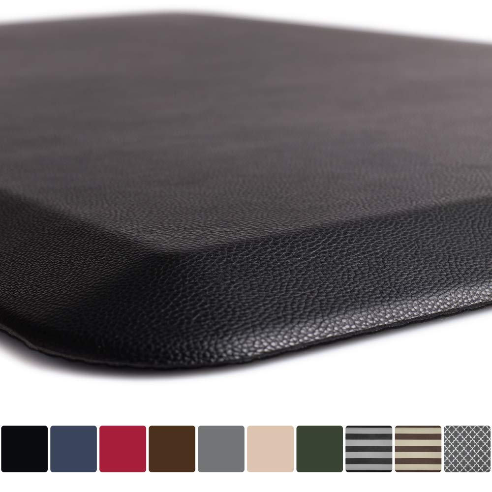 "GORILLA GRIP Original 3/4"" Premium Anti-Fatigue Comfort Mat, Phthalate Free, Ships Flat, Ergonomically Engineered, Extra Support and Thick, Kitchen and Office Standing Desk (32x20: Black)"