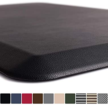 GORILLA GRIP Original 3/4  Premium Anti-Fatigue Comfort Mat, Phthalate Free, Ships Flat, Ergonomically Engineered, Extra Support and Thick, Kitchen and Office Standing Desk (39x20: Black)