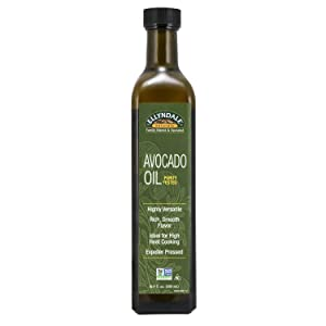 NOW Foods, Avocado Cooking Oil in Glass Bottle, Rich Smooth Flavor, Ideal for High Heat Cooking, Expeller Pressed, Certified Non-GMO, 16.9-Ounce