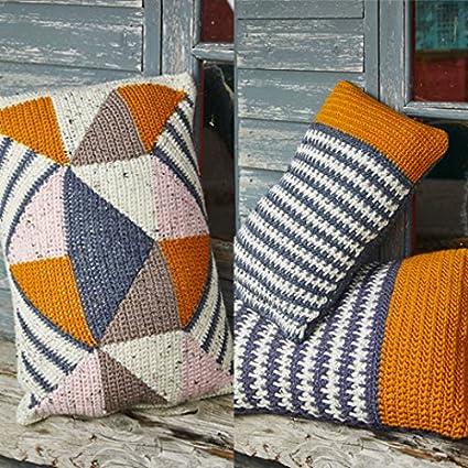 Amazon Stylecraft Home Cushions Alpaca Tweed Crochet Pattern