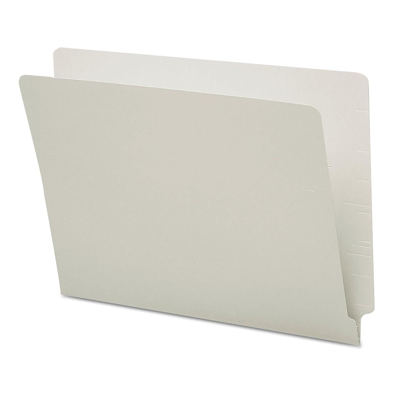 Colored File Folders, Straight Cut, Reinforced End Tab, Letter, Gray, 100/Box (並行輸入品) B00006IF3O グレー グレー