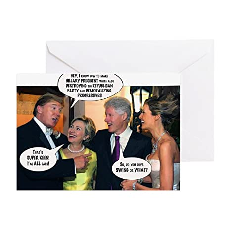 Amazon Cafepress Trumps Clinton Plot Greeting Cards