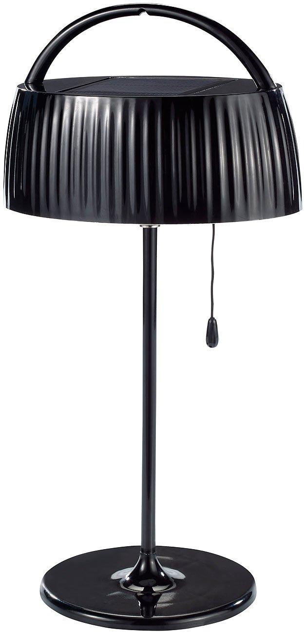 Lunartec Elegante Solar Led Tischleuchte Schwarz Amazon De