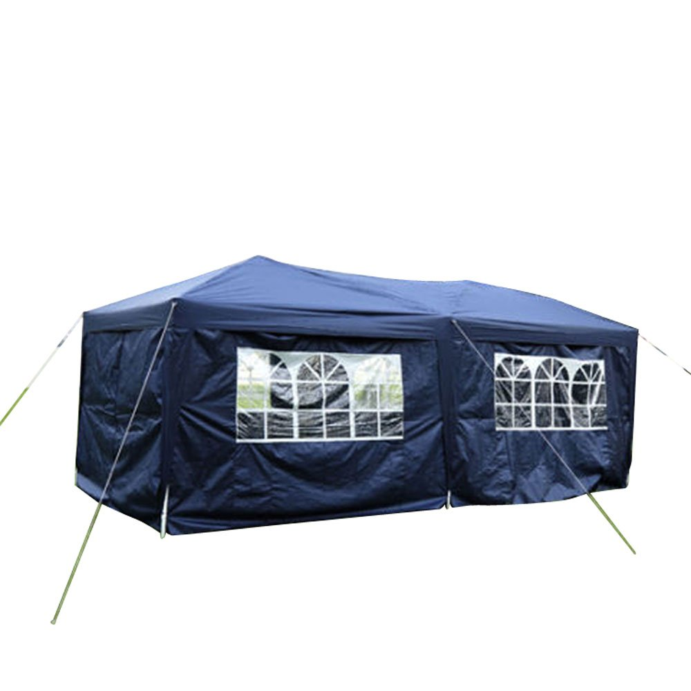 Z ZTDM 10' X 20' Pop Up Canopy Tent for Outdoor Wedding Party Event BBQ, with 6 Removable Sidewalls,Sunshade Waterproof Folding Heavy Duty