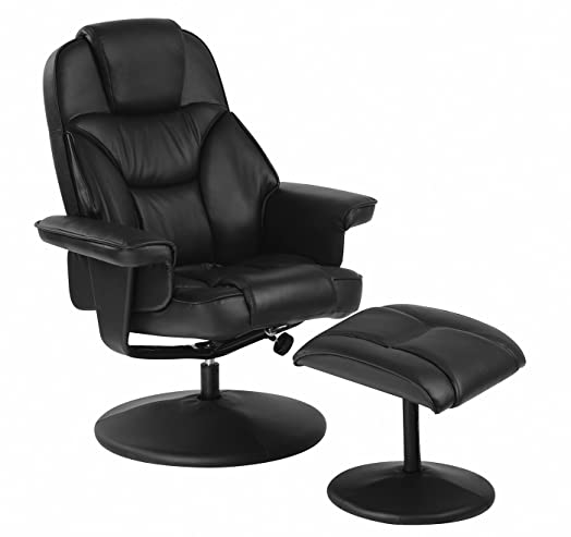 Relaxateeze Milano Leather Effect Swivel Recliner Chair u0026 Foot Stool in Black  sc 1 st  Amazon UK & Relaxateeze Milano Leather Effect Swivel Recliner Chair u0026 Foot ... islam-shia.org