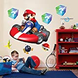 BirthdayExpress Mario Kart Wii Room Decor - Giant Wall Decals