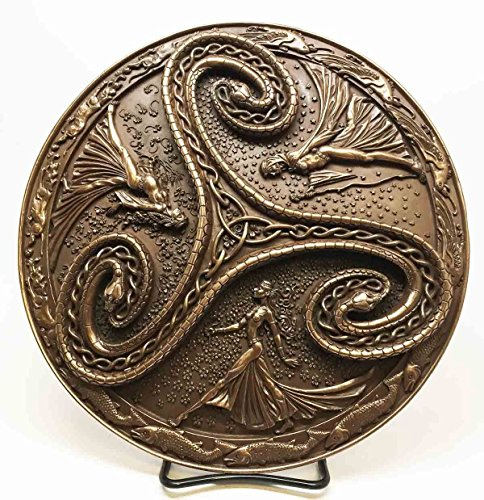 - Pagan Wiccan Tripple Goddess Triskele Serpent Wall Plaque Maiden Mother Crone
