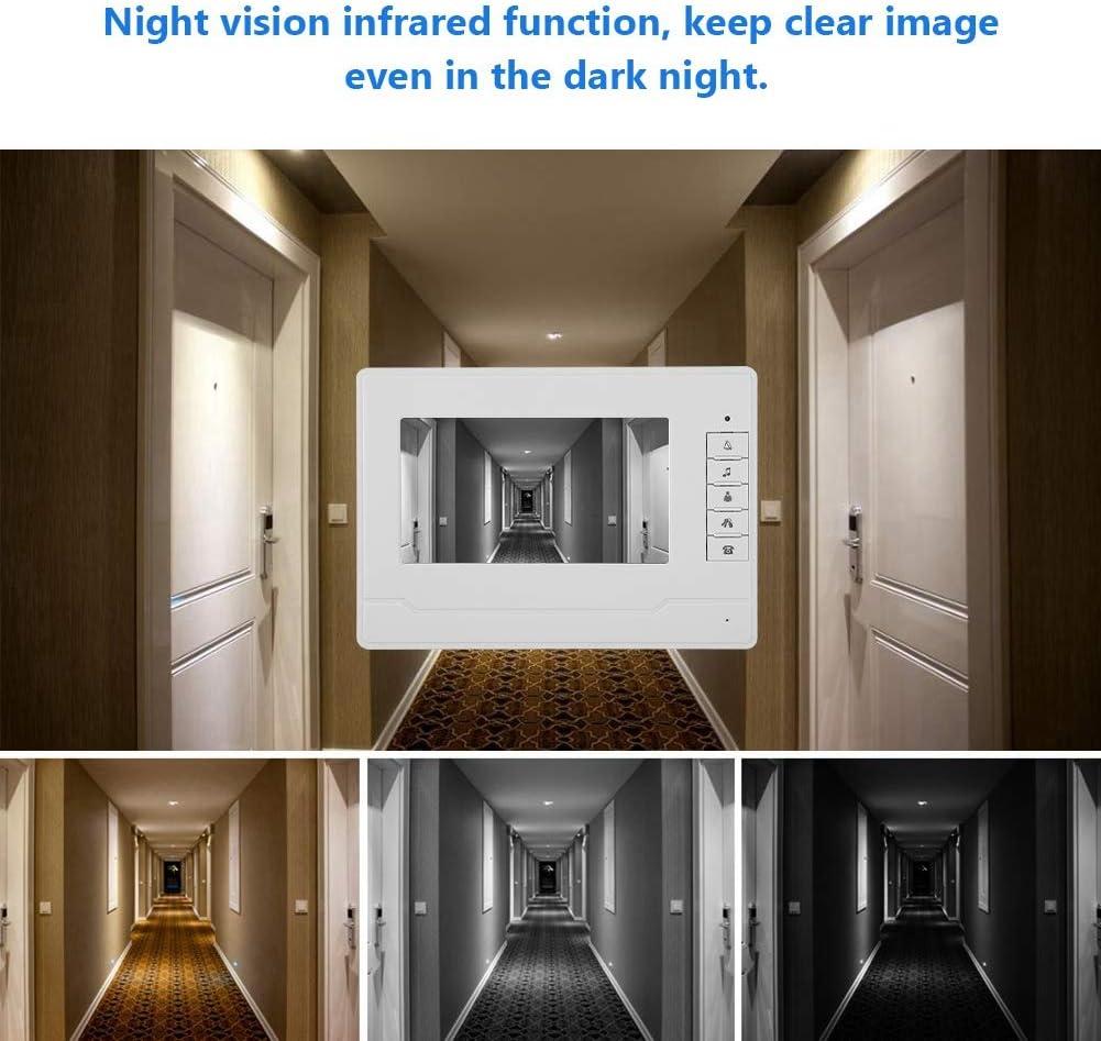 Sonnette de vision nocturne infrarouge /étanche HD de sept pouces Sonnette vid/éo Eu surveiller /à lext/érieur Soutenir linterphone mains libres