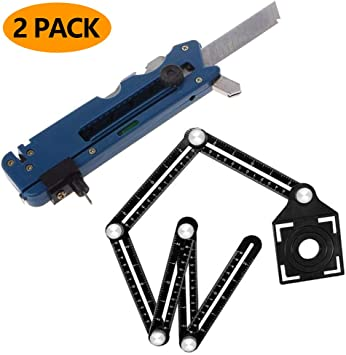 Glass Cutter Multi-Functional Metal Cutting Kit Tool with Measure Ruler New Tile