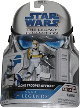 Yellow Clone Trooper Officer STAR WARS 30th Anniversary Saga Legends VARIANT
