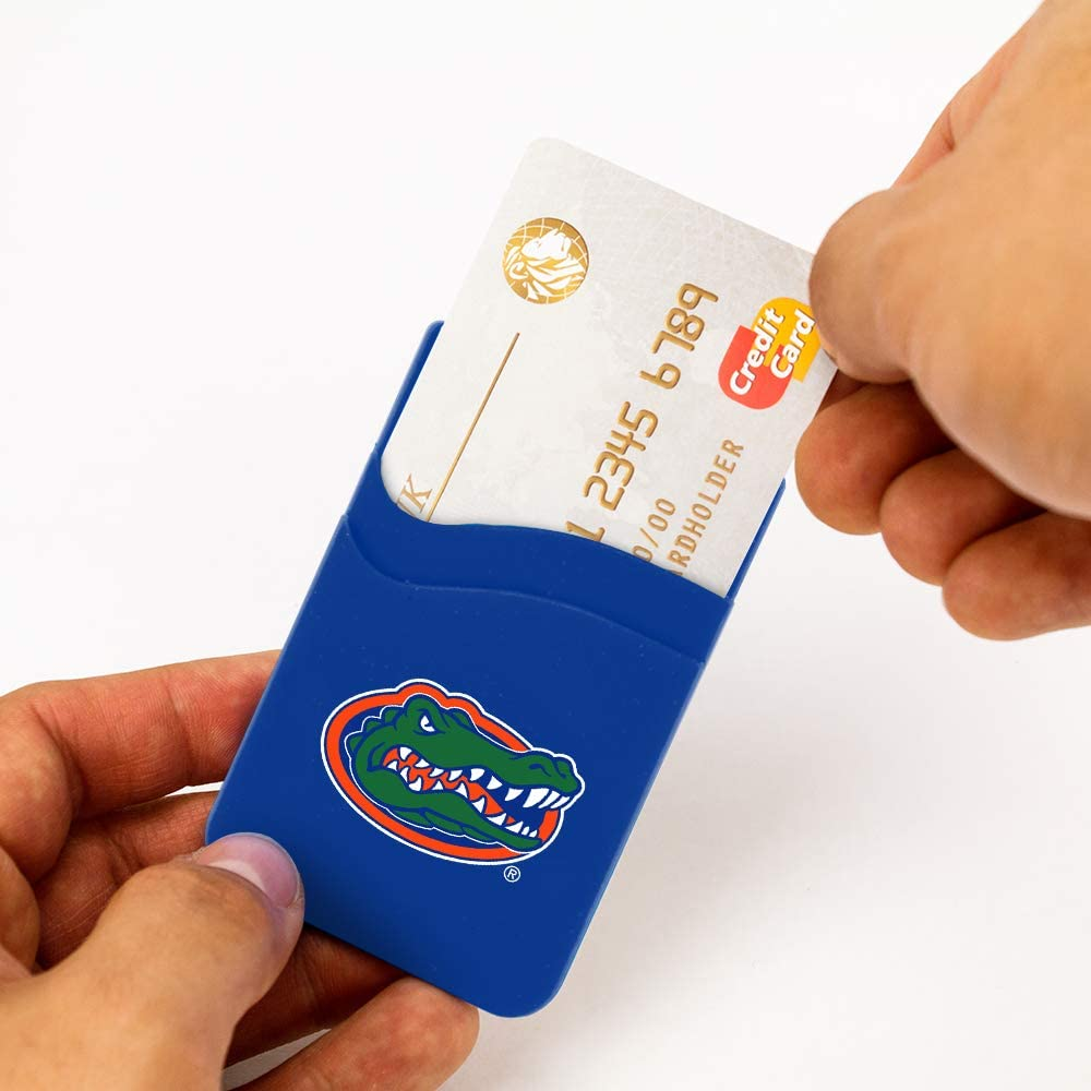 UCLA Bruins Dual Pocket Silicone Card Keeper Phone Wallet