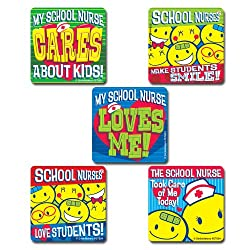 School Nurse Stickers - 100 Per Pack