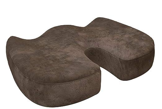 AOOK ortopédica de espuma de memoria asiento cojín silla Pad para alivio de dolor de espalda y la ciática y coxis dolor - Ideal para silla de oficina ...